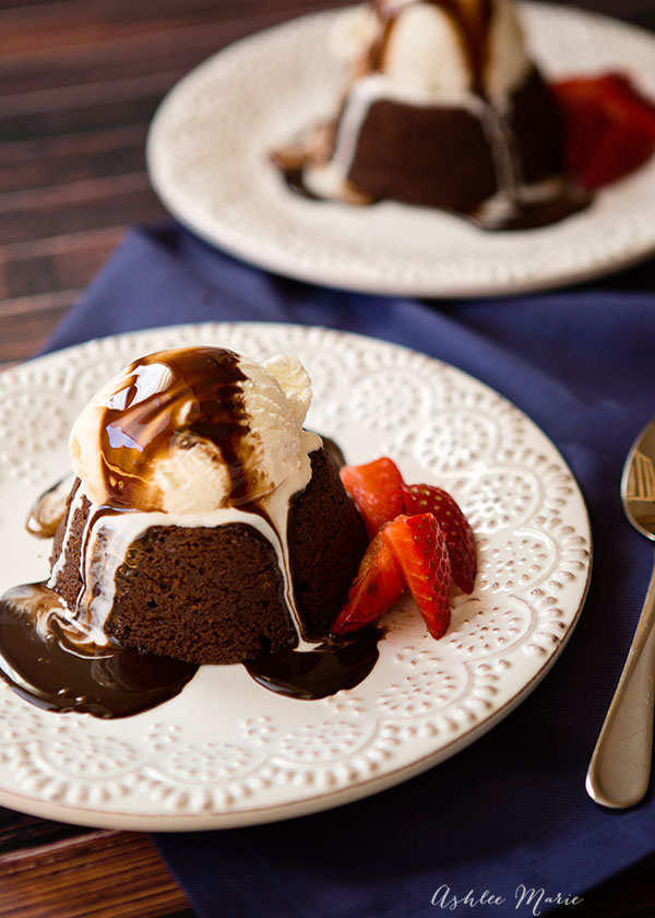 a delicious and easy to make dessert, molten lava cake