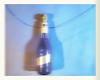 Weaving Blue, Improvisation 1: Blue Bottle found at Fools Tower, Blue Wire, Fimo Head, Shadows in the Blue Mirror-Kitchen - Blau Weben: Narrenturm Undine Wasser Spiegel Kopffüsser von Gugging 8. Kontinent: Schatten in der blauen Spiegel Küche by hedbavny