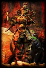 Revoltech Takeya Buddhist Statue Collection 004 - Zochouten [Woodgrain]
