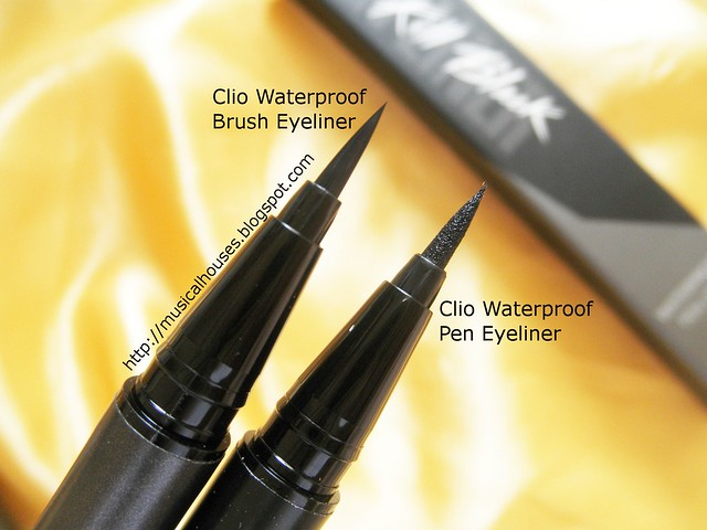 Clio Eyeliners Waterproof Brush Pen Eyeliner Comparison Tip