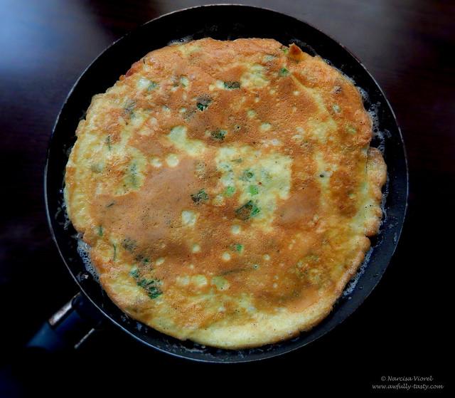 omleta cu pancetta