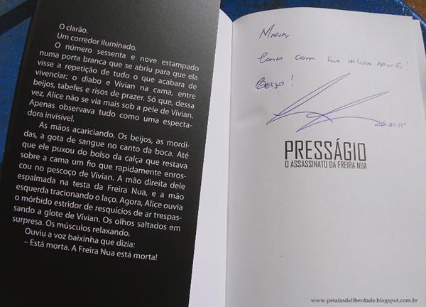Livro Presságio - O Assassinato da freira nua, Leonardo Barros