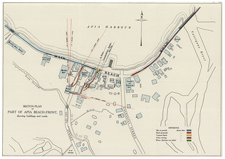Map of Black Saturday, 28 December 1929, Samoa