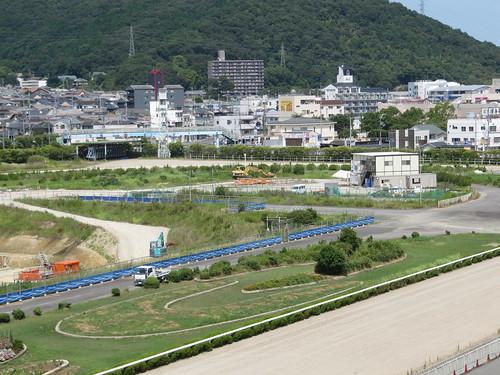 姫路競馬場の工事の様子