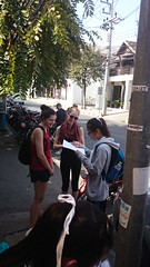 Varee students interviewing tourists