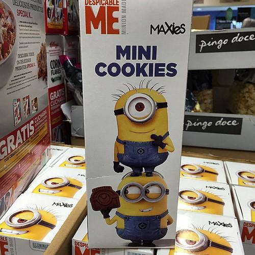 Mini cookies  Minion 😂 #minion #cookies #portugal #galletas #merienda #snack
