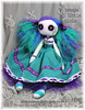 Button eyed cloth art doll - Aurora Starlight