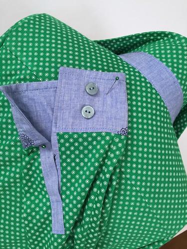 green shirt cuff