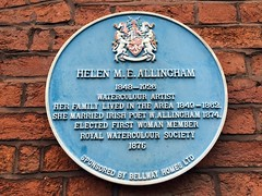 Photo of Helen M. E. Allingham blue plaque