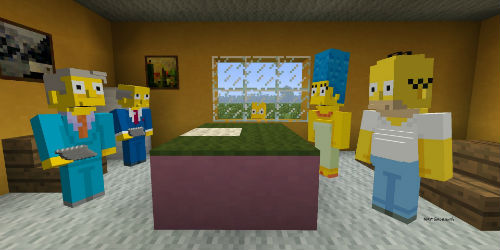 The Simpsons skins pack for Minecraft coming to PlayStation this week
