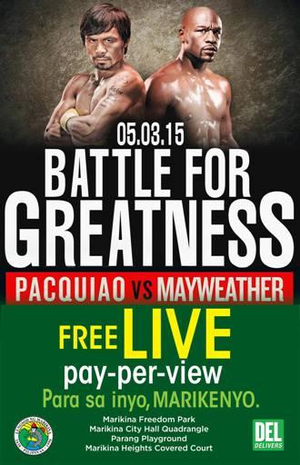 Mayweather Vs Pacquiao fight Live in Marikina