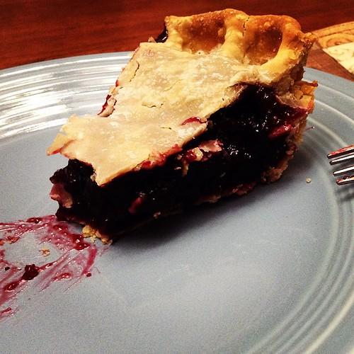 Huckleberry pie, homemade by my mom. #pie #huckleberry #montana #kalispell #food #foodporn