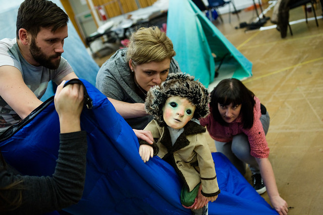 Opera North and The Wrong Crowd in rehearsals for Swanhunter © Richard Davenport
