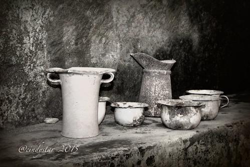 old kitchenware in underground naples