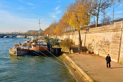 winter paris france seine river lens boat dock nikon hiver quay tokina quai barge fleuve dx arbois quaidestuileries jeanbart d7100 1228mmf4g
