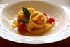 Talharim de palmito pupunha ao molho de tomate basílico (Majericão, tomate italiano ralado, alho, cebola e azeite) Palmito cortado e cozido igual massa. Mesma textura e sabor incrível