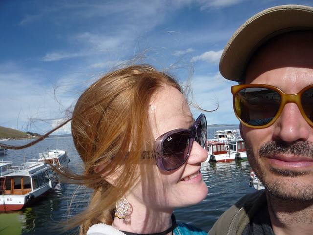 Selfie at Lake Titicaca