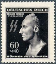Známky Protektorát Čechy a Morava 1943, 1. výročí úmrtí R.Heydricha