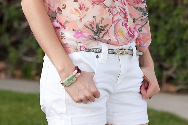 History + Industry Bracelet, Joe Fresh Floral Top