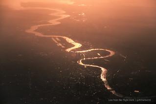 Sunrise over London (taken at 12,000ft)