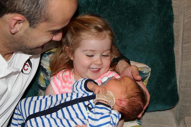 Harper holding Finnegan