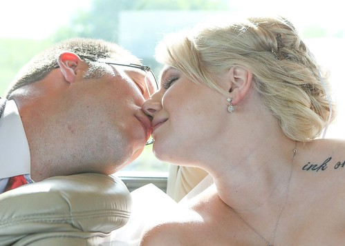 Candid kiss
