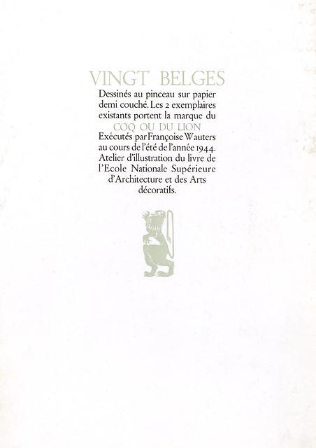 Vingt Belges inside leaf