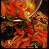 Cucina Dello Zio #homemade #pork #peppers and #paprika #CucinaDelloZio - using multi-color peppers