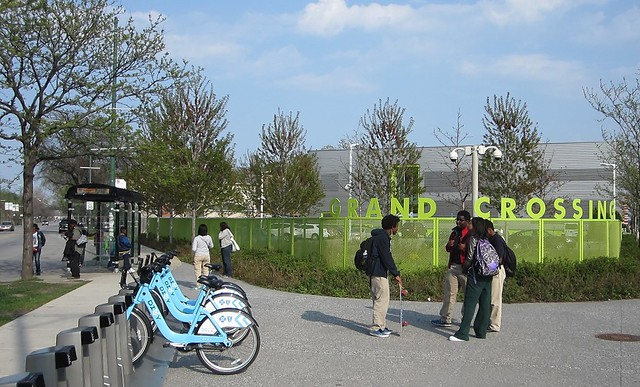 Divvy station by Cromer College Prep