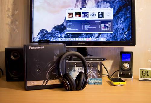 Panasonic HD10 High Resolution ausinių testas