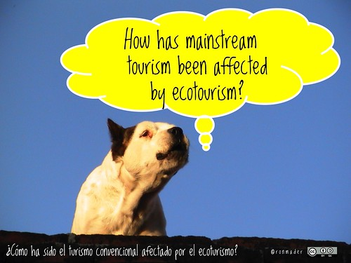 How has mainstream tourism been affected by ecotourism? = ¿Cómo ha sido el turismo convencional afectado por el ecoturismo? #roofdog @blacksheepinn