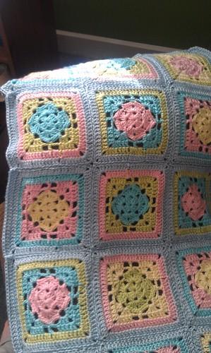 Crochet Blanket Spring Fling Granny Square - Missed Stitches
