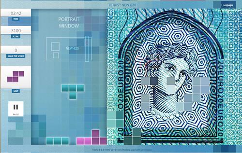 Tetris banknote
