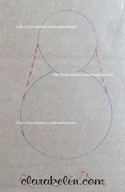 Dibujar una plantilla o molde de una Virgen Maria para niños con tapones