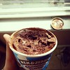 When your day starts with chocolate therapy from Ben & Jerry's!