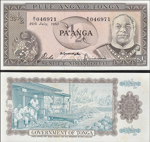 1 Pa`anga Tonga 1974-1983, Pick 18