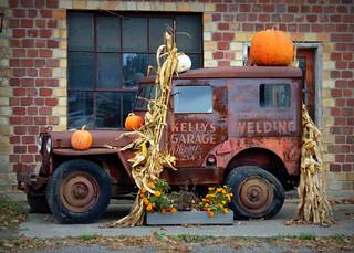 Halloween Jeep, Perry Center, NY