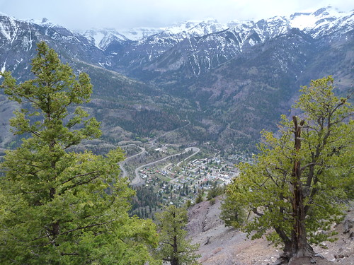 Looking down on Ouray