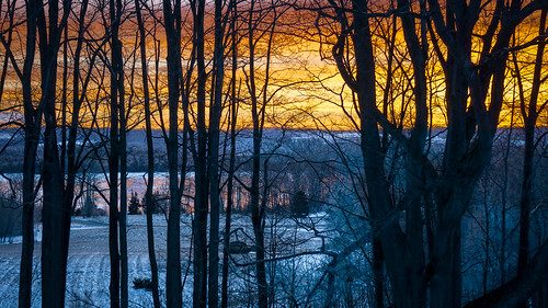 winter sunrise leland lakeleelanau