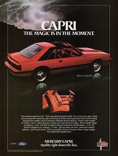 1982 Mercury Capri RS (Canadian Ad)