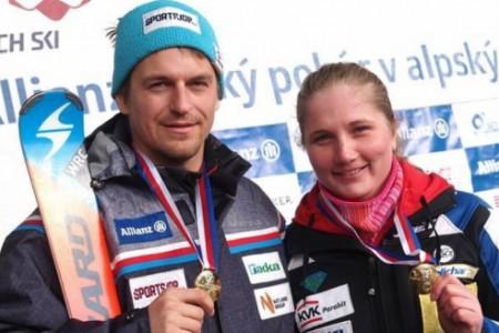Mistry České republiky 2015 ve slalomu jsou Kryštof Krýzl a Michaela Smutná