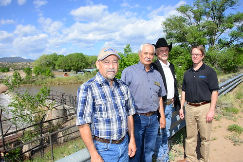 NRCS Chief Jason Weller (far right) touring acequias in New Mexico