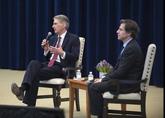 Deputy Secretary of State Tony Blinken and British Foreign Secretary Philip Hammond  at the Global Chiefs of Mission Conference at the U.S. Department of State in Washington, D.C., on March 26, 2015. [State Department photo/ Public Domain]