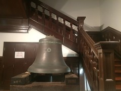 carillon(0.0), musical instrument(0.0), lighting(0.0), baluster(1.0), wood(1.0), bell(1.0), stairs(1.0),