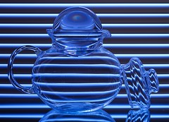 Blue Glass & Lines
