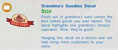 Grandmas Goodies Decal