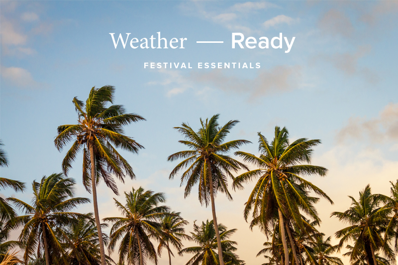 Weather Ready Festival Essentials | www.latenightnonsense.com