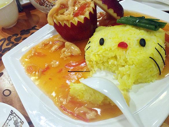 Hello Kitty蘋果鶏絲飯