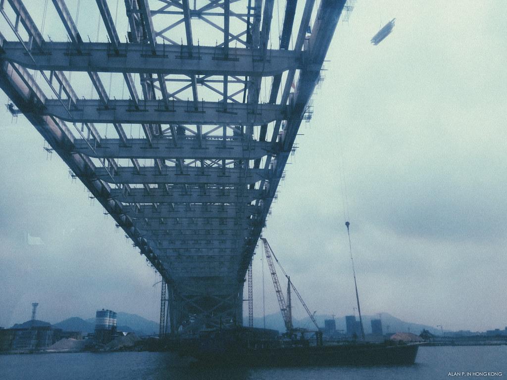 HengQin Bridge in construction