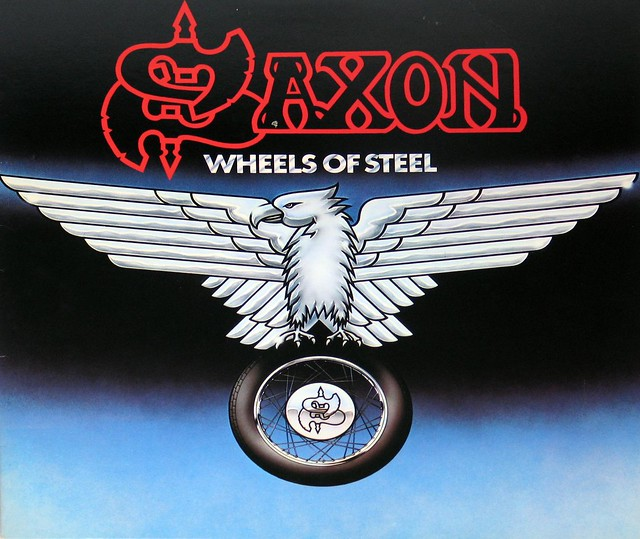 "Saxon Wheels of Steel NWOBHM USA 12"" Vinyl LP"